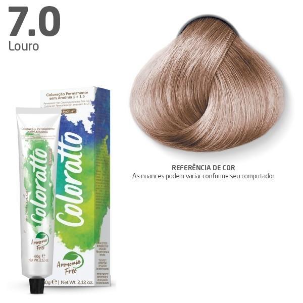 COLORAÇÃO SEM AMÔNIA COLORATTO 60G LOURO 7.0