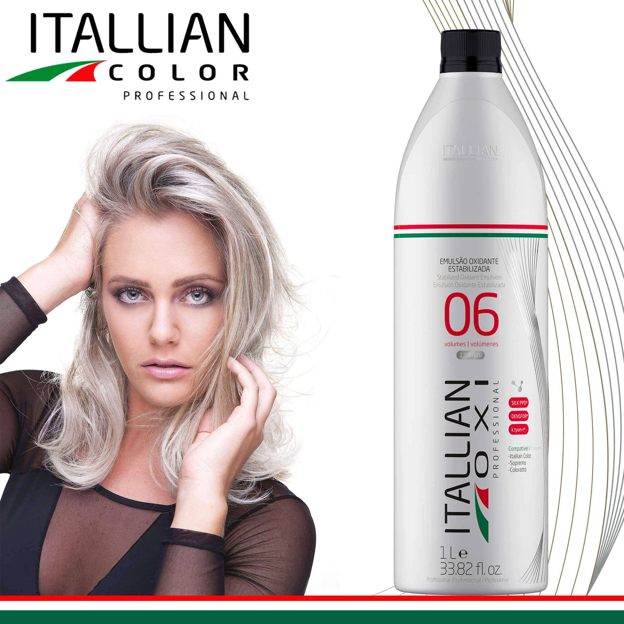 Emulsão Oxidante Estabilizada Itallian Oxi 06 Volumes 1l