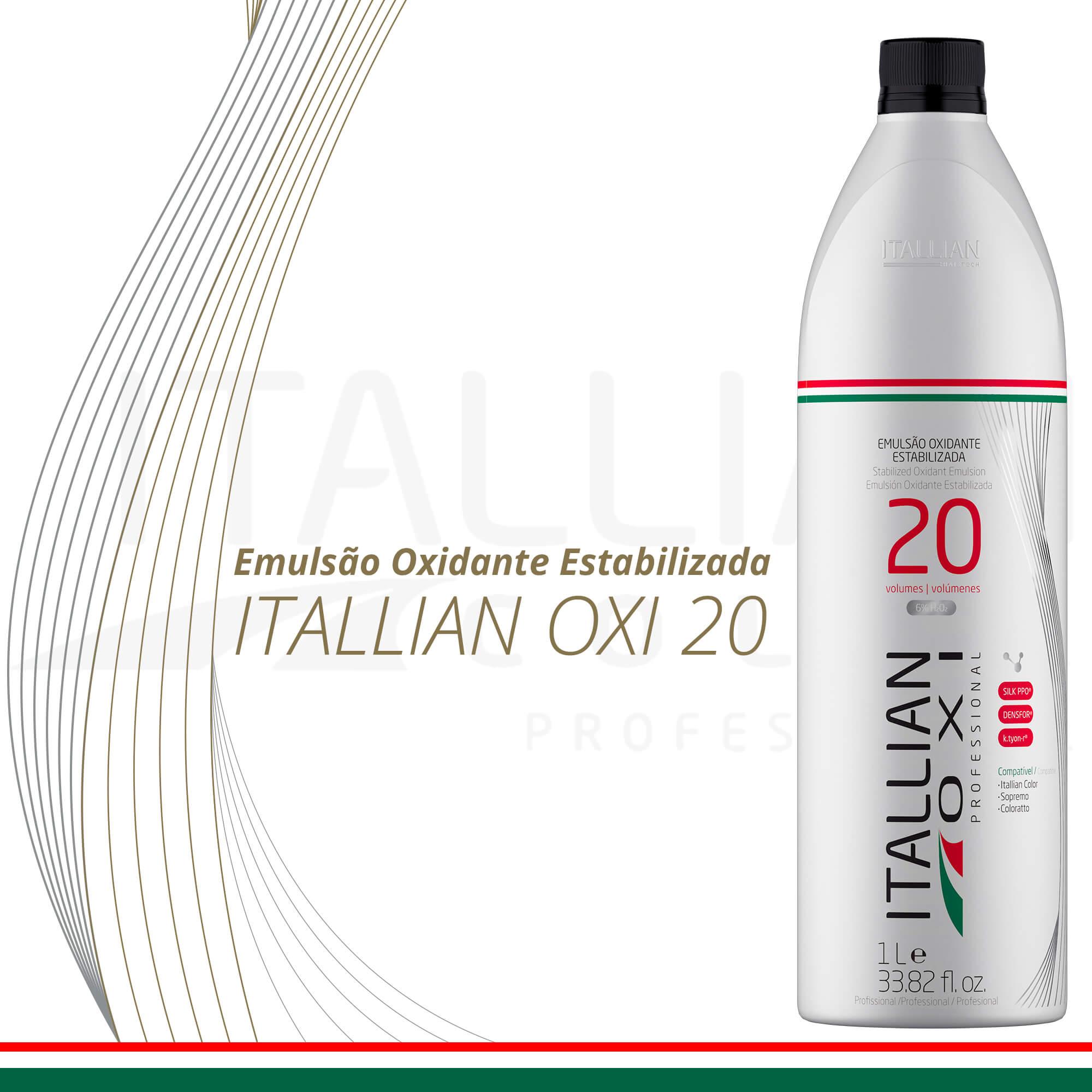 Emulsão Oxidante Estabilizada Itallian Oxi 20 Volumes 1l
