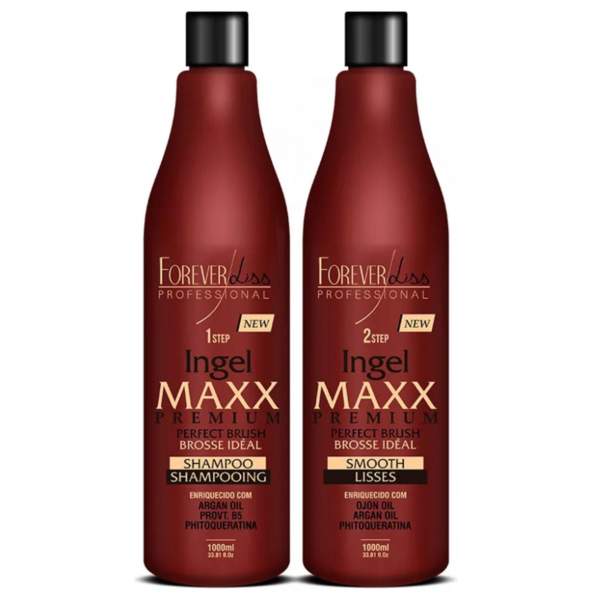 Escova Progressiva Ingel Maxx 2 Passos 2x1l Forever Liss