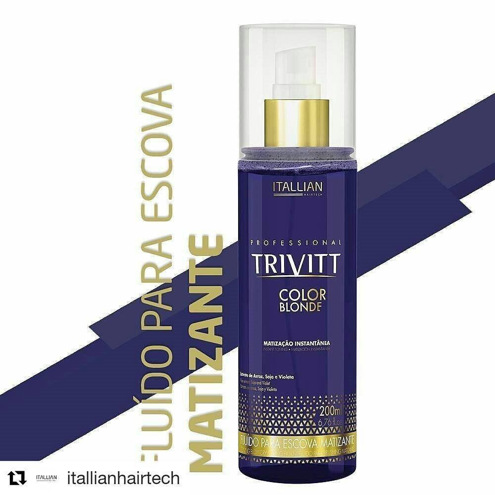 Fluído Para Escova Trivitt Color Blonde Matizante + Brinde