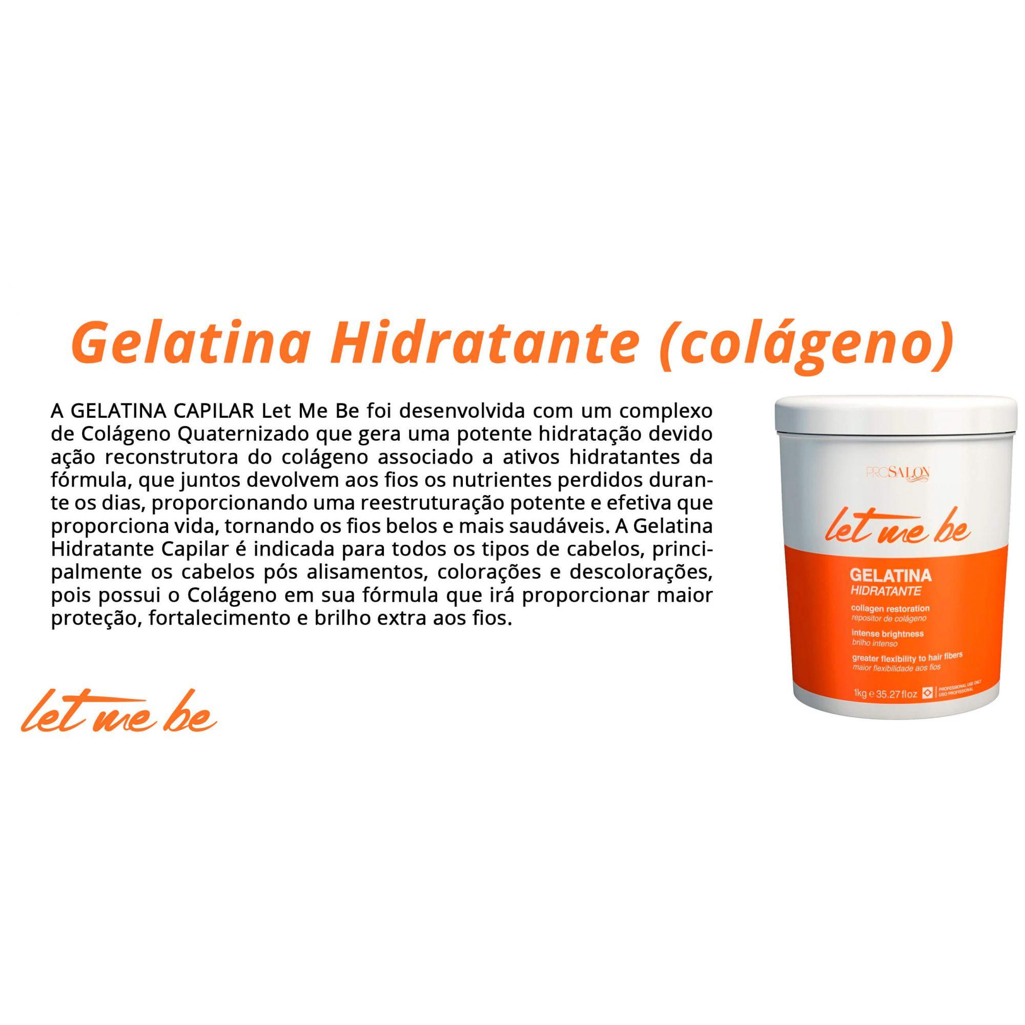 Gelatina Hidratante - Colágeno - Let Me Be 1kg