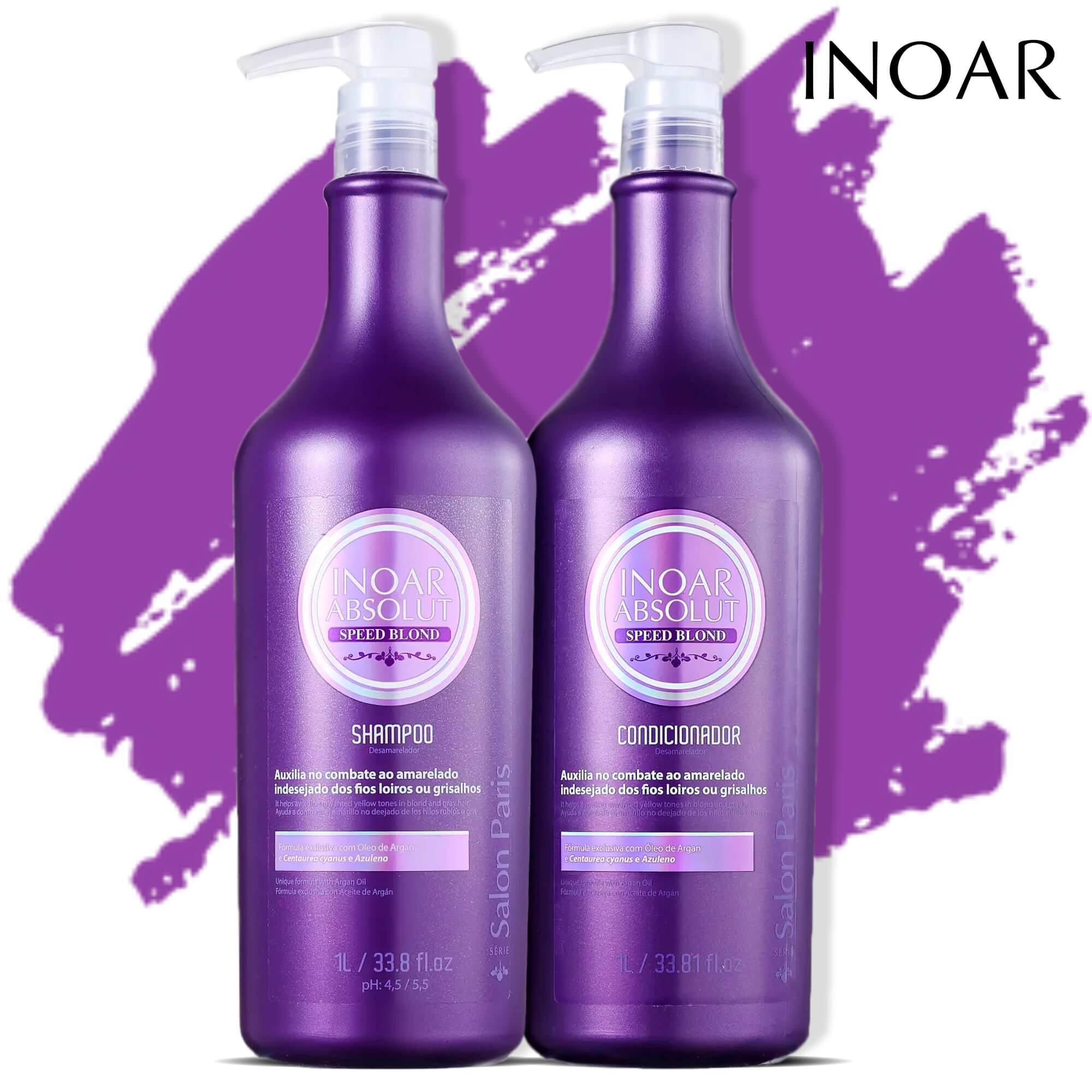 Kit Absolut Speed Blond Shampoo + Condicionador 1l