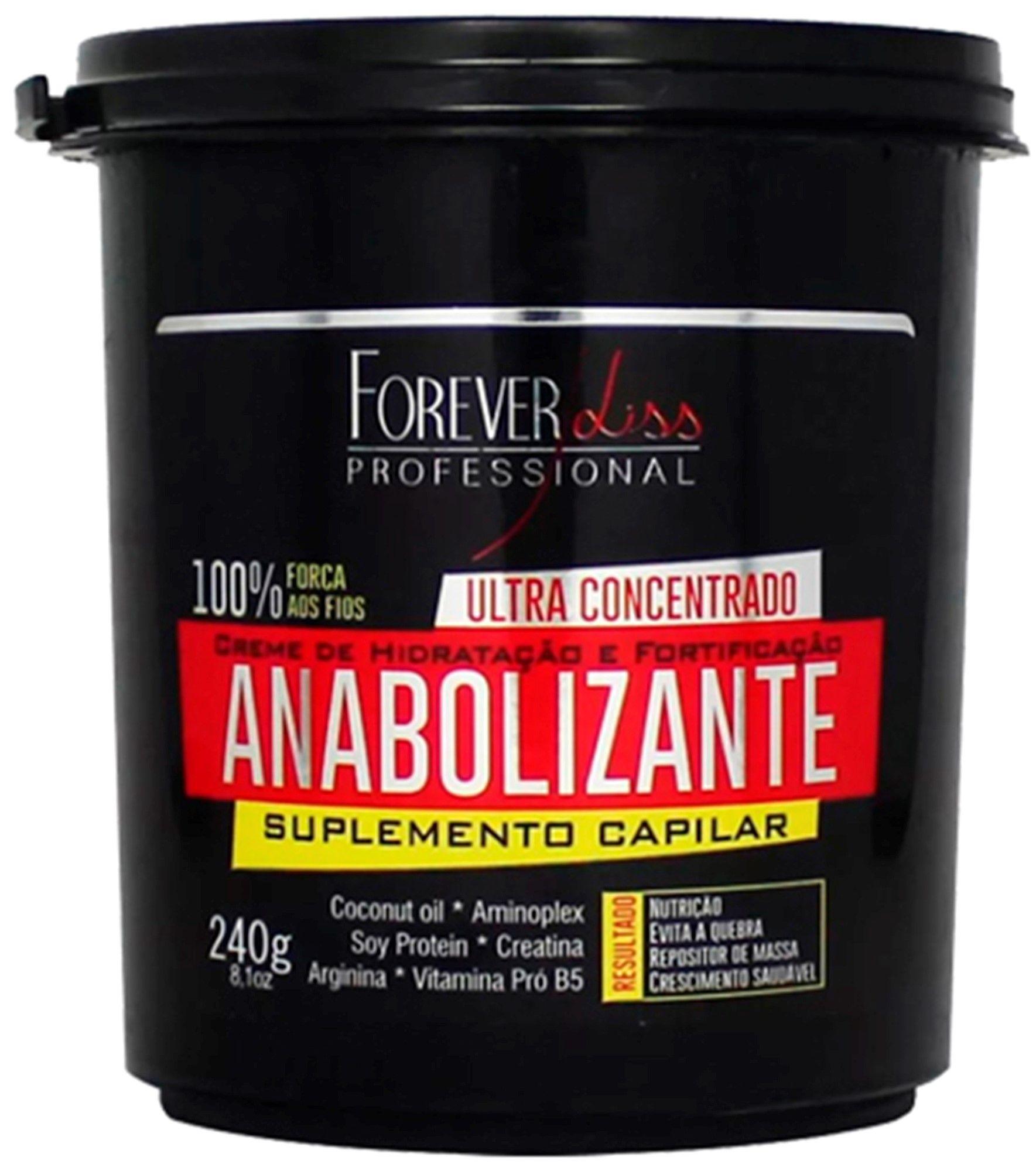 Kit Anabolizante Capilar Shampoo 1l Creme Hidratação 950g