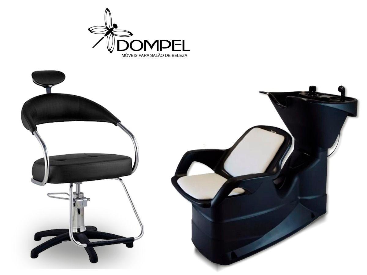 Kit Dompel Lavatório E Cadeira Salão De Beleza Cabeleireiro