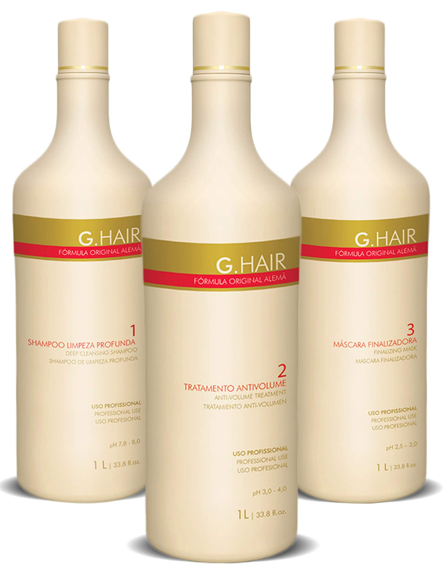 Kit Escova Alemã Progressiva G-hair  (3 X 1 Lt)