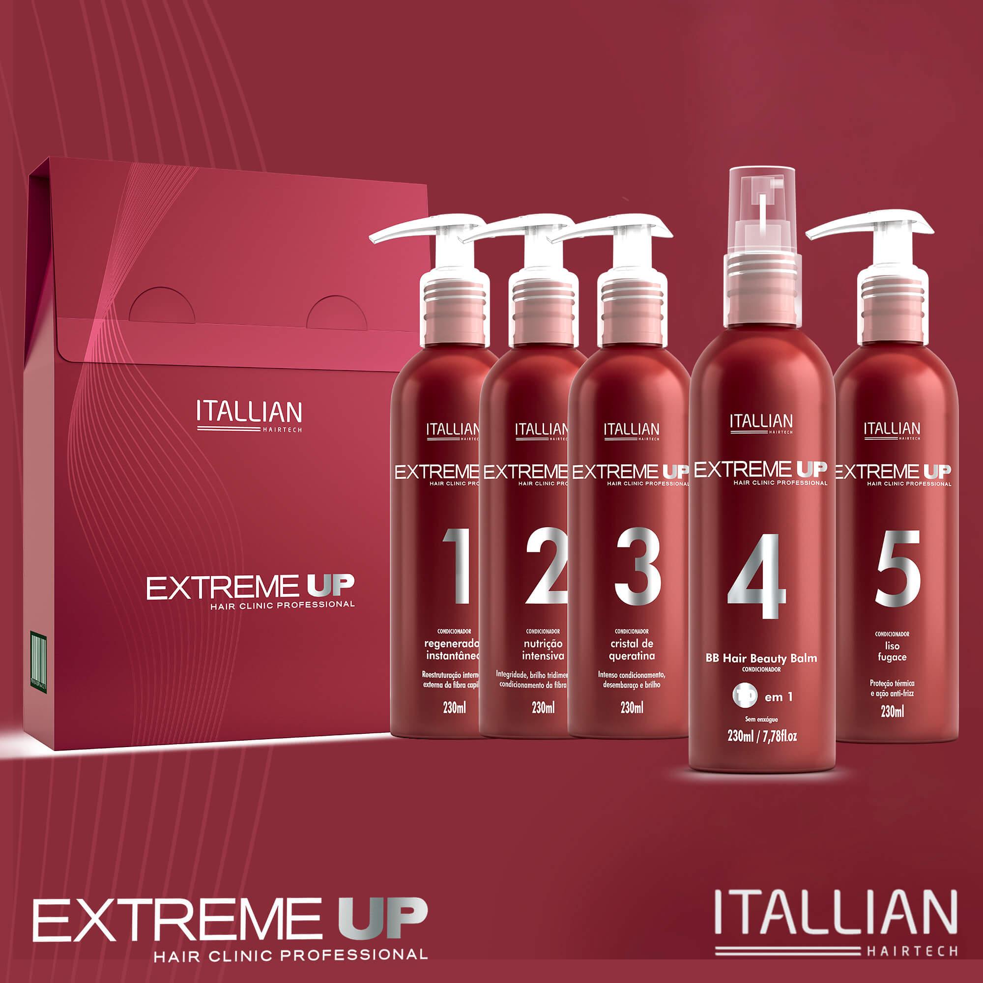 Kit Extreme-up Hair Clinic Itallian Com 5 Itens
