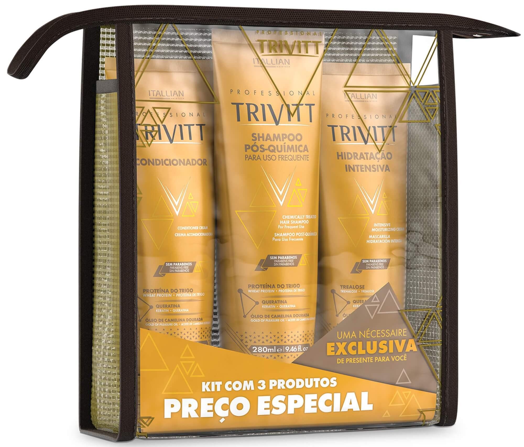 Kit Home Care Com Hidratação Intensiva Itallian Trivitt