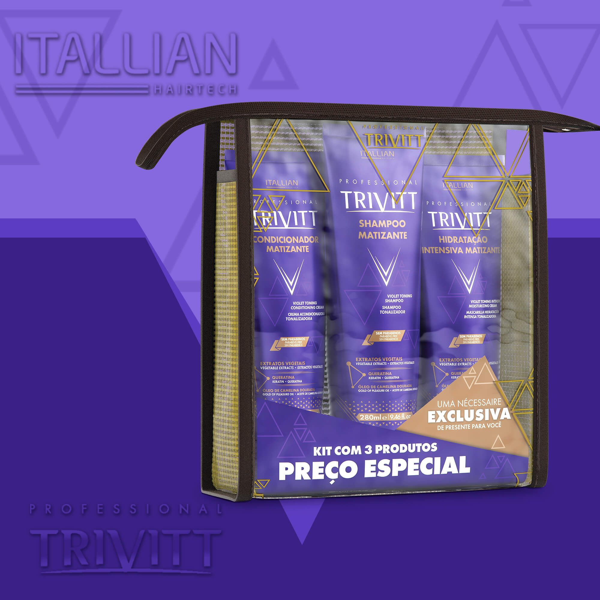 Kit Home Care Itallian Matizante Com Hidratação Intensiva