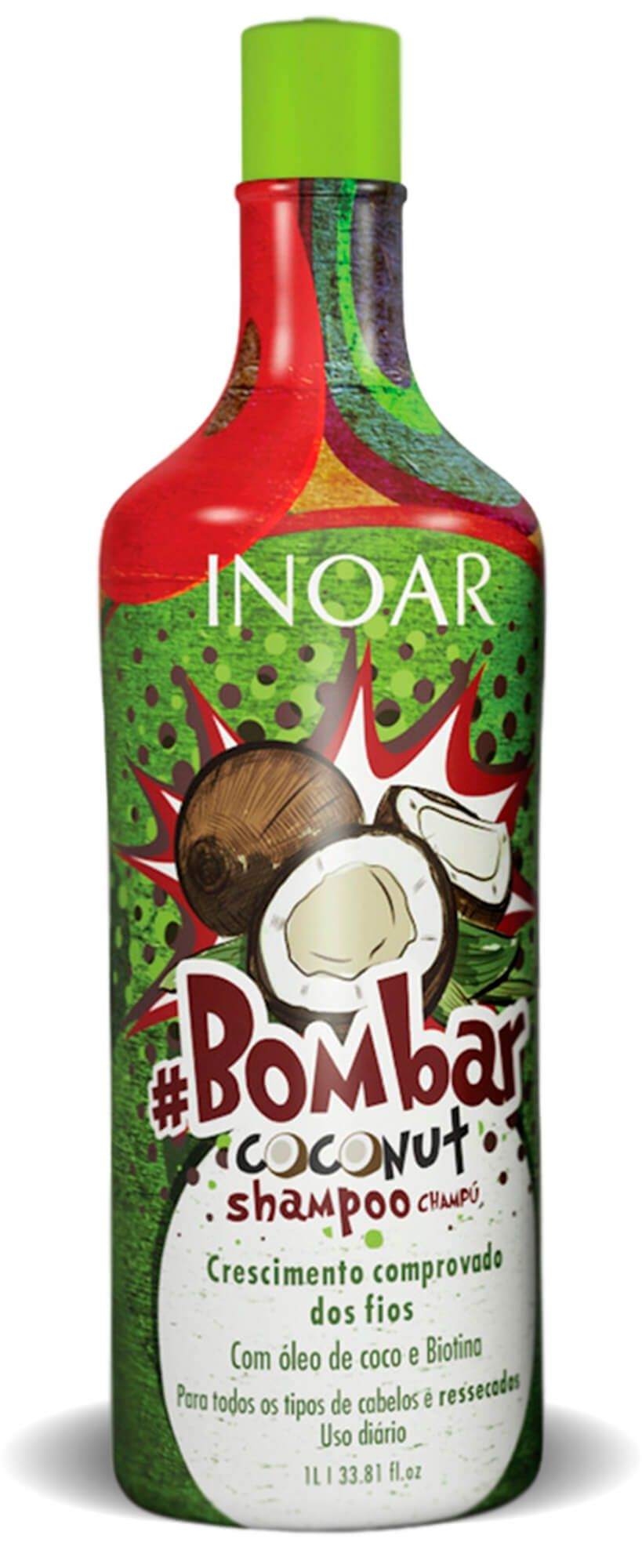 Kit Inoar bombar Coconut Shampoo + Condicionador 1l