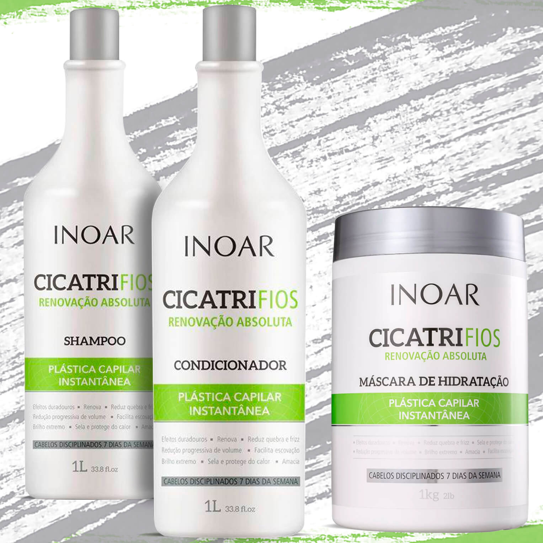 Kit Inoar Cicatrifios (shampoo E Condicionador) + Máscara