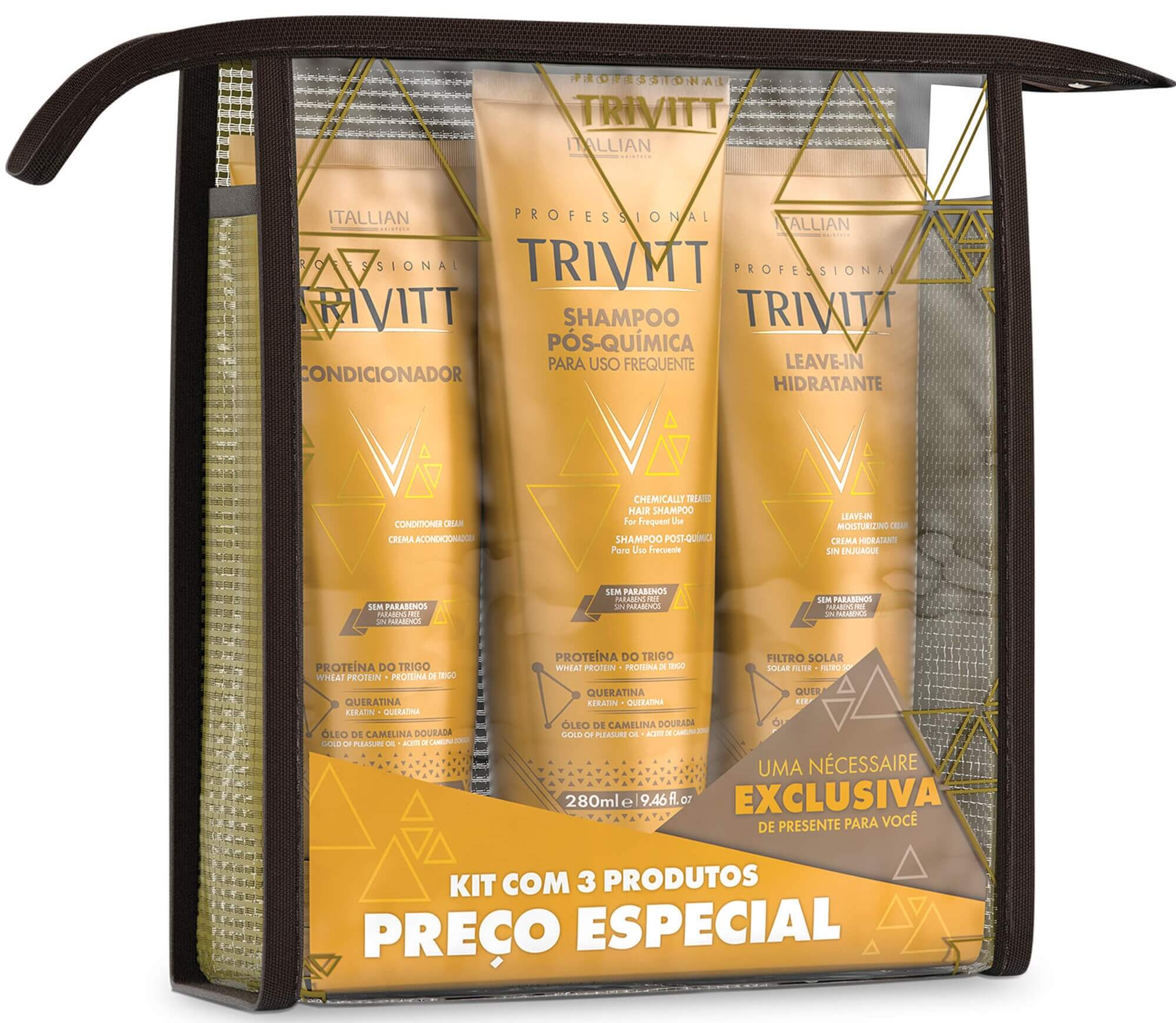 Kit Itallian Home Care Trivitt Com Leave-in Hidratante