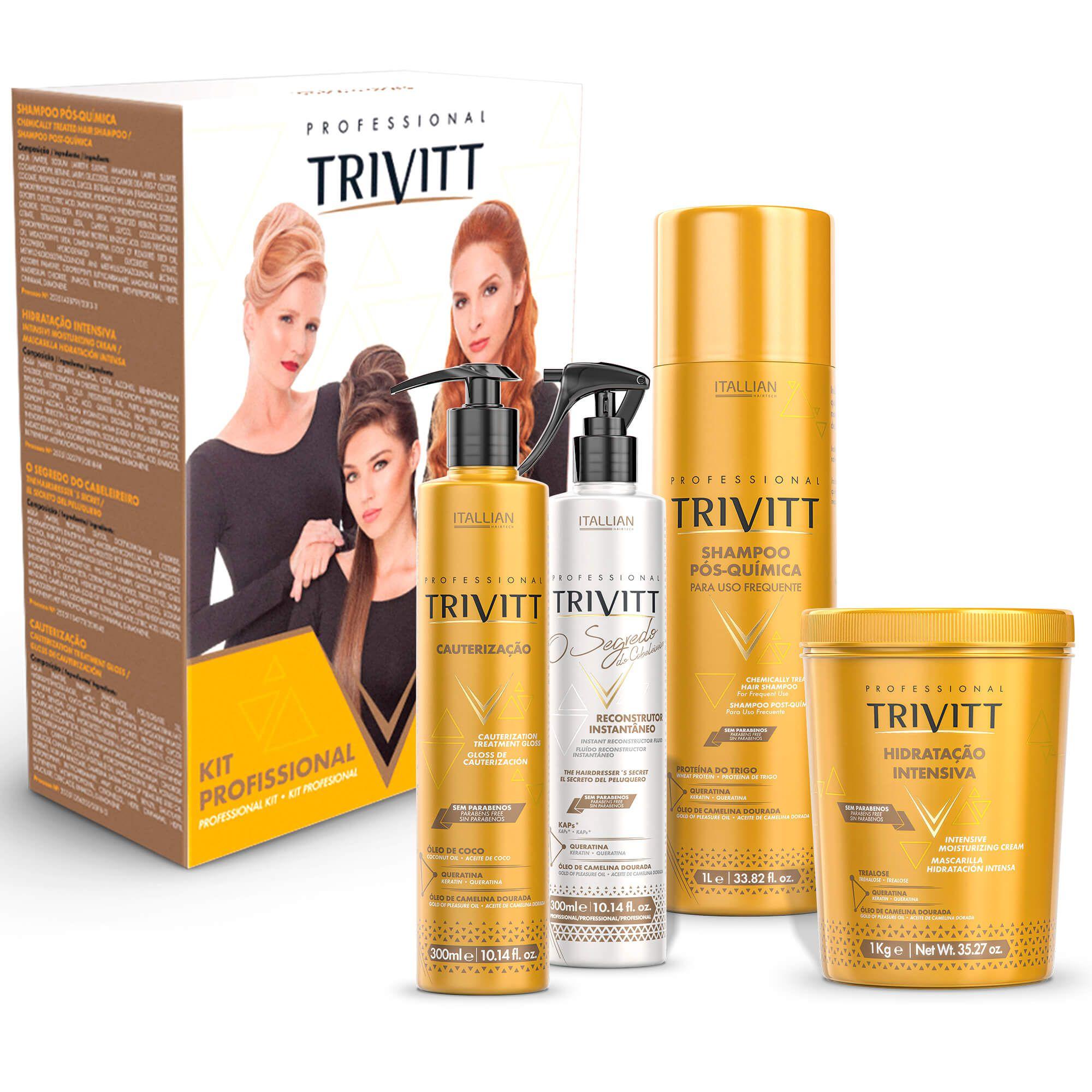 Kit Profissional Trivitt 2018 Hidratação + Fluido