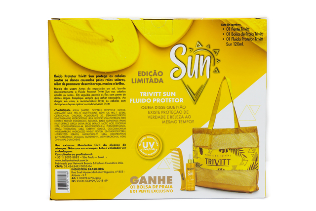 KIT TRIVITT SUN 120ML + BAG + PENTE