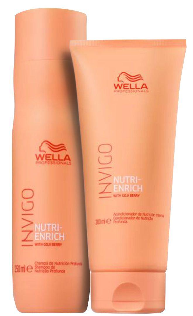 Kit Wella - Invigo Nutri-Enrich Salon - Sh 250ml e Cond 200 ml