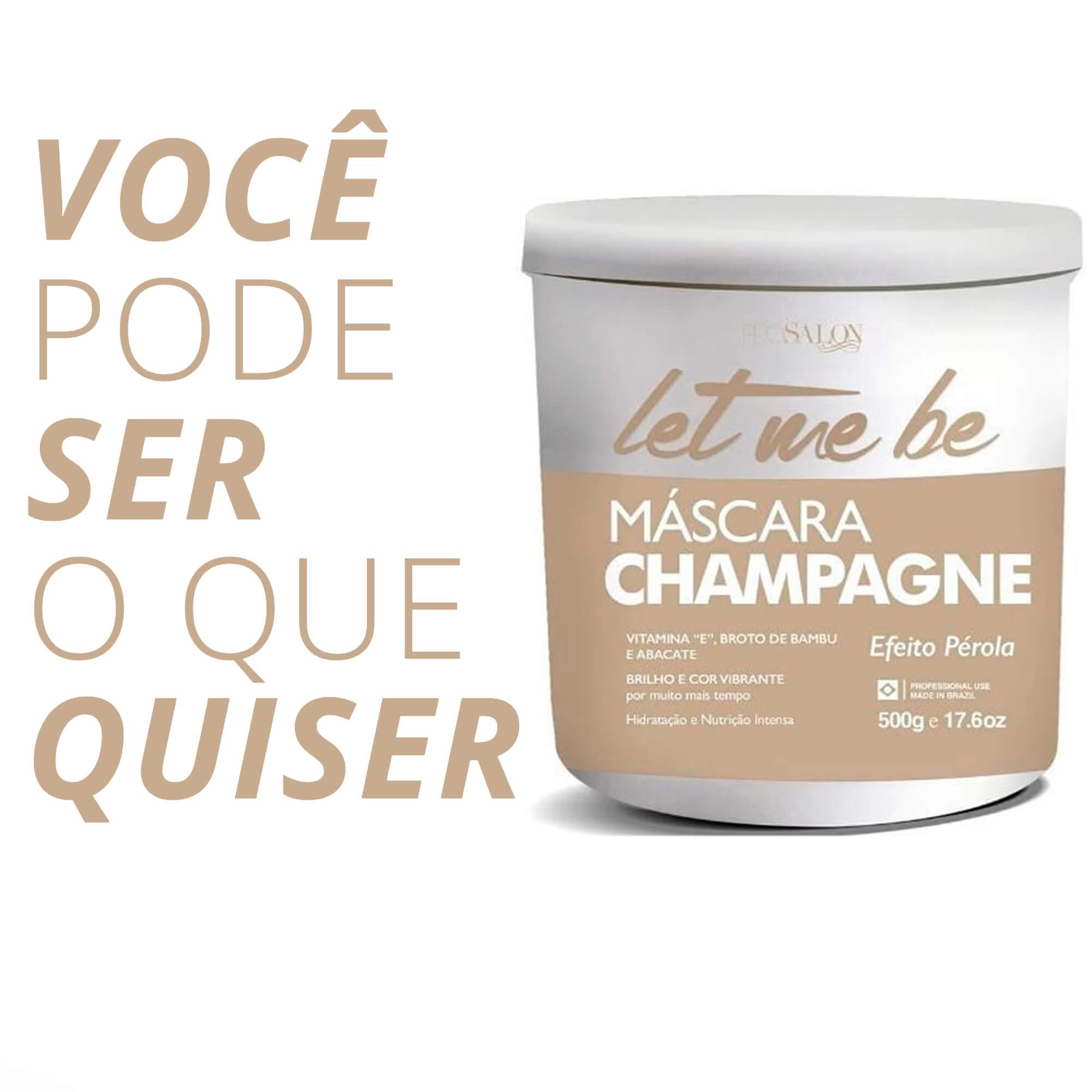 Let Me Be Máscara Champagne Efeito Pérola 500g