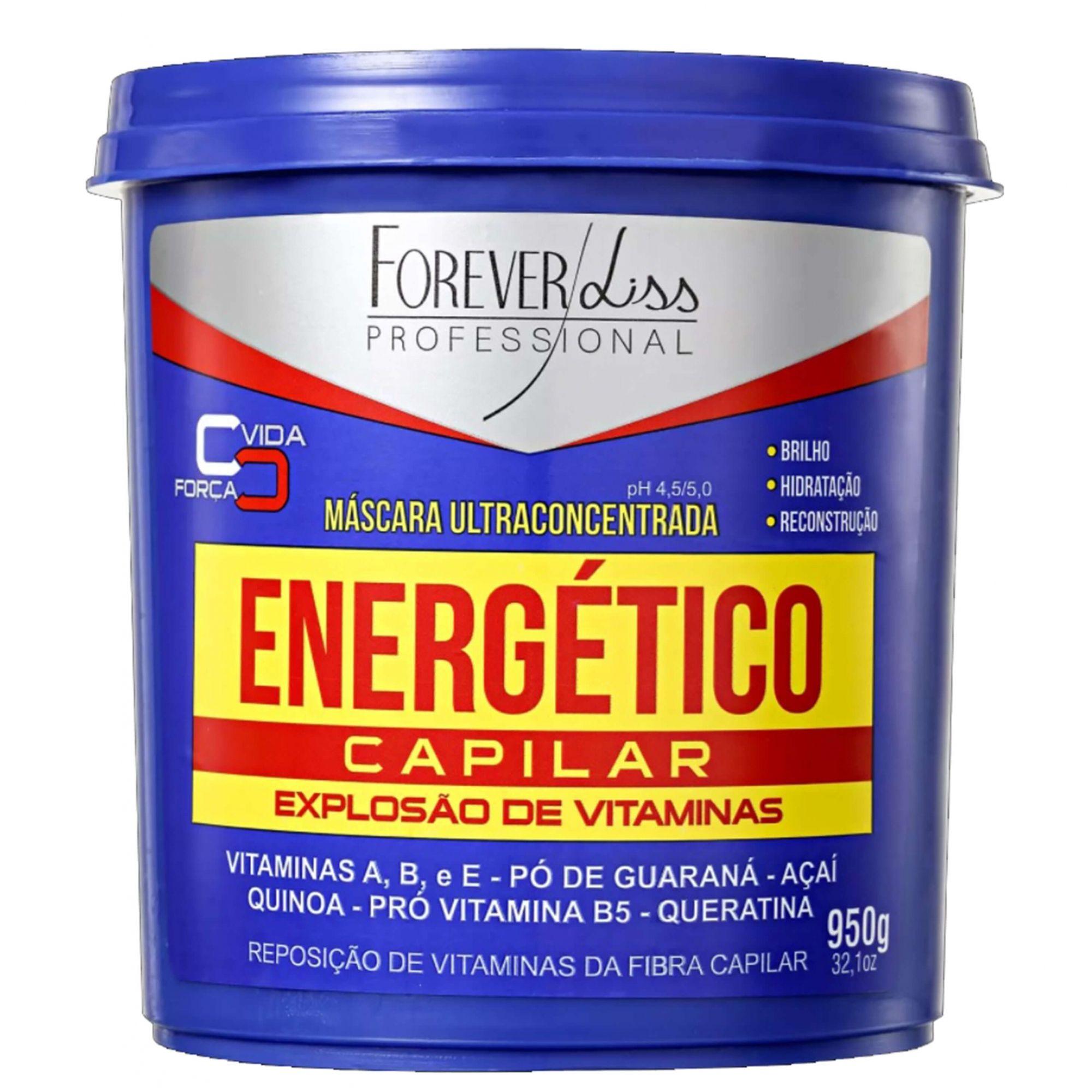 Máscara de Vitaminas Energético Capilar Forever Liss - 950g