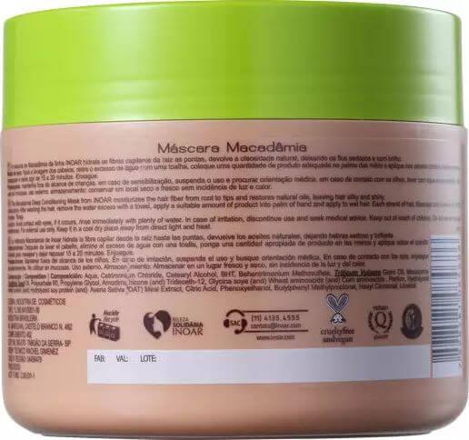 Máscara Inoar Macadâmia Oil Premium 500ml