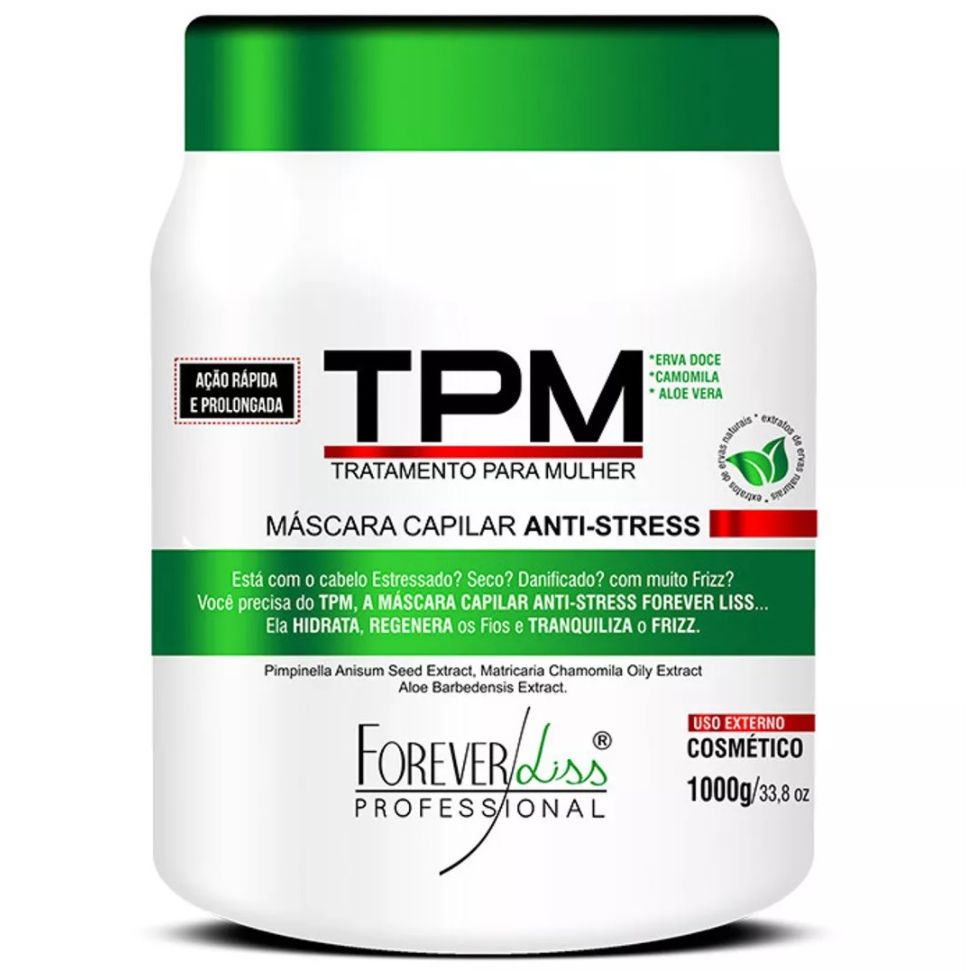 Máscara Tpm Anti Stress Forever Liss - 1kg