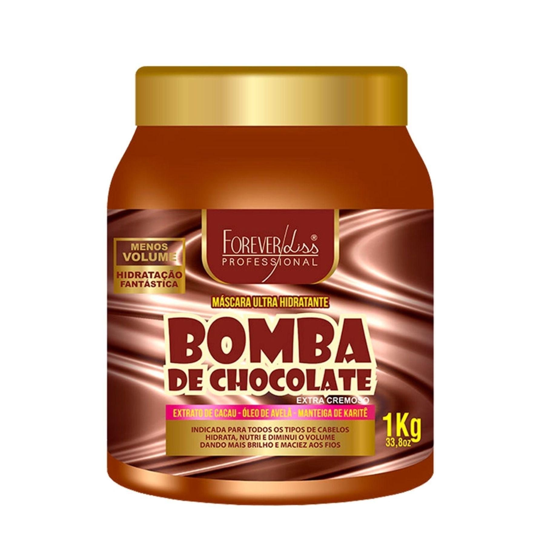 Máscara Ultra Hidratante Bomba De Chocolate Forever Liss 1kg