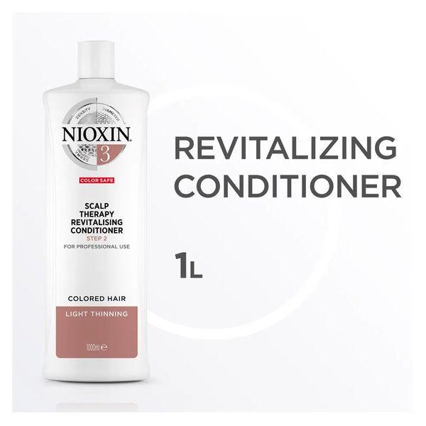 Nioxin Scalp Therapy Sistema 3 Tramanho Profissional - Condicionador Revitalizante 1000 ml