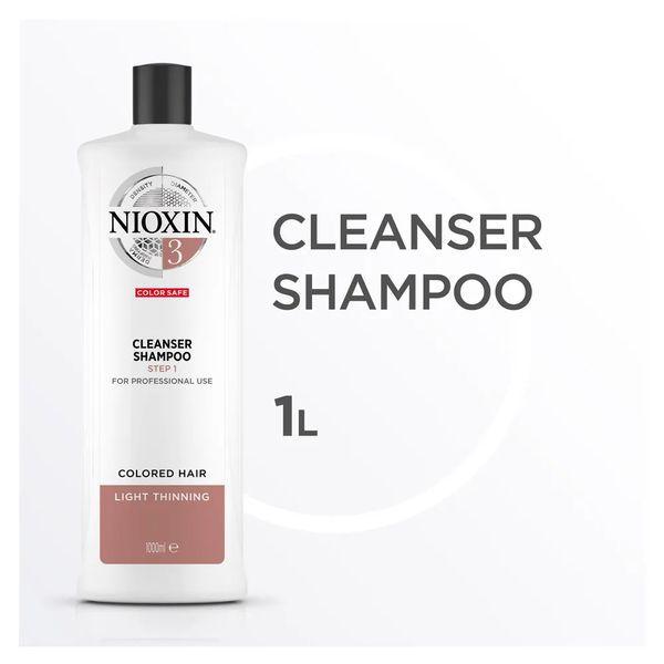 Nioxin Scalp Therapy Sistema 3 Tramanho Profissional - Shampoo de Limpeza 1000 ml