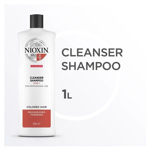 Nioxin Scalp Therapy Sistema 4 Tramanho Profissional - Shampoo de Limpeza 1000 ml