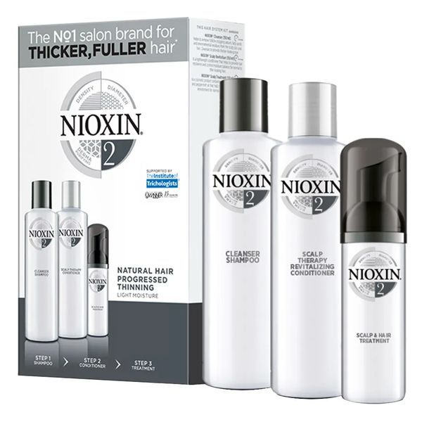Nioxin Trial Kit Sistema 2 - Shampoo + Condicionador + Leave-in