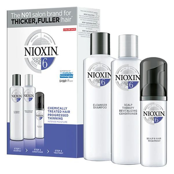 Nioxin Trial Kit Sistema 6 - Shampoo + Condicionador + Leave-in