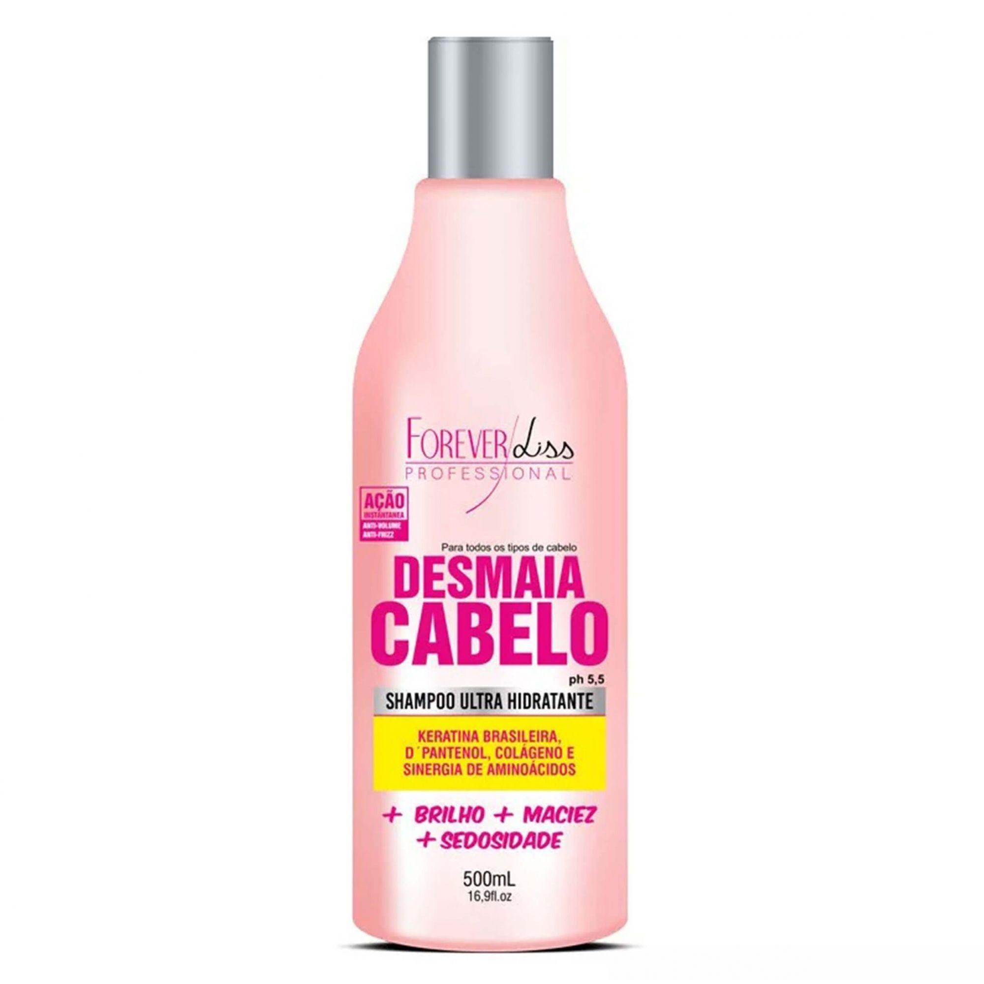 Shampoo Desmaia Cabelo Hidratante Forever Liss 500ml