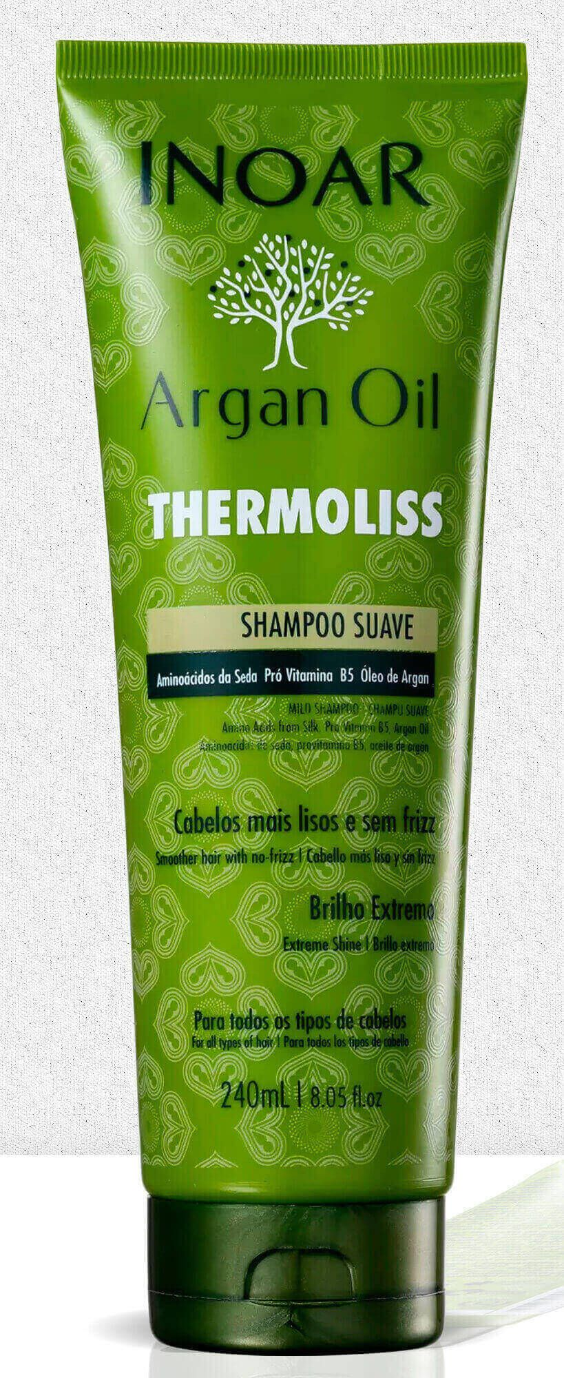 Shampoo Inoar Argan Oil System Thermoliss 240ml
