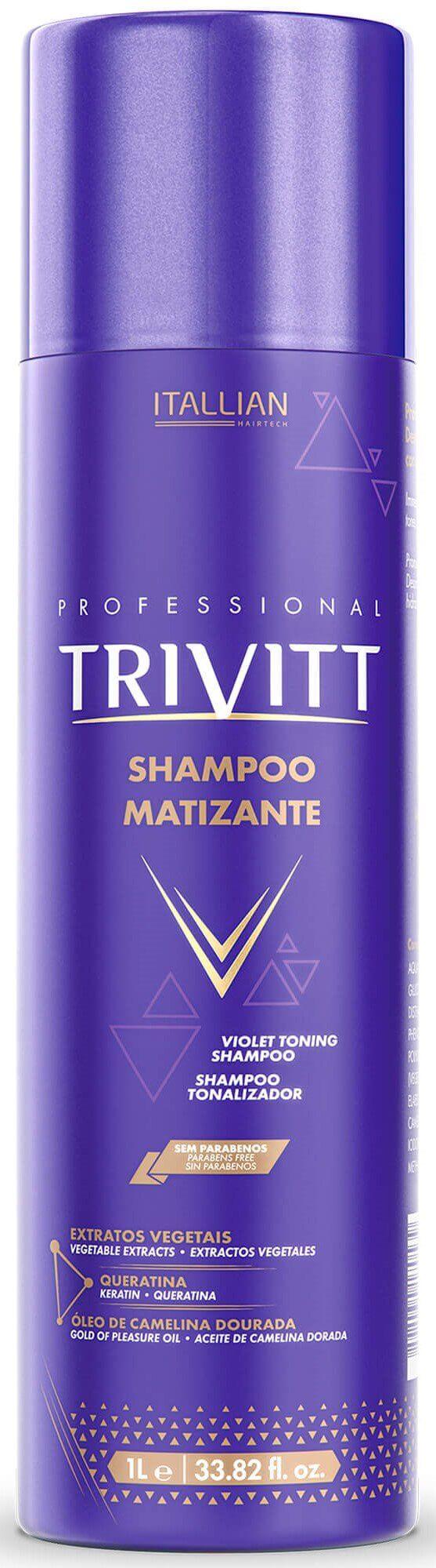 Shampoo Matizante Itallian Trivitt - 1l