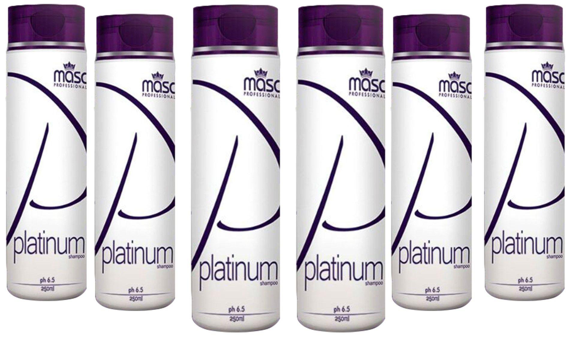 Shampoo Platinum Masc Professional 250g - 6 Unidades