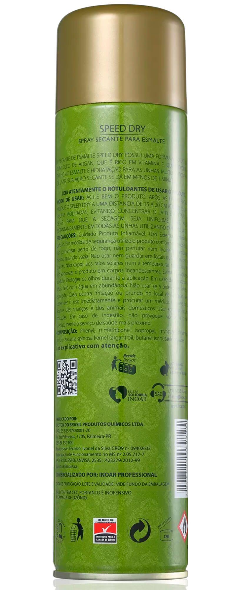 Spray Secante Para Esmalte Speed Dry 400ml