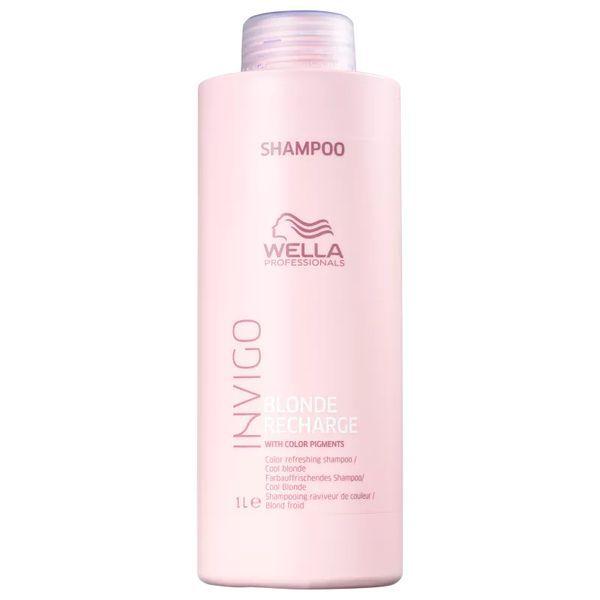 Wella Cool Blond Recharge Invigo - Shampoo - 1000ml