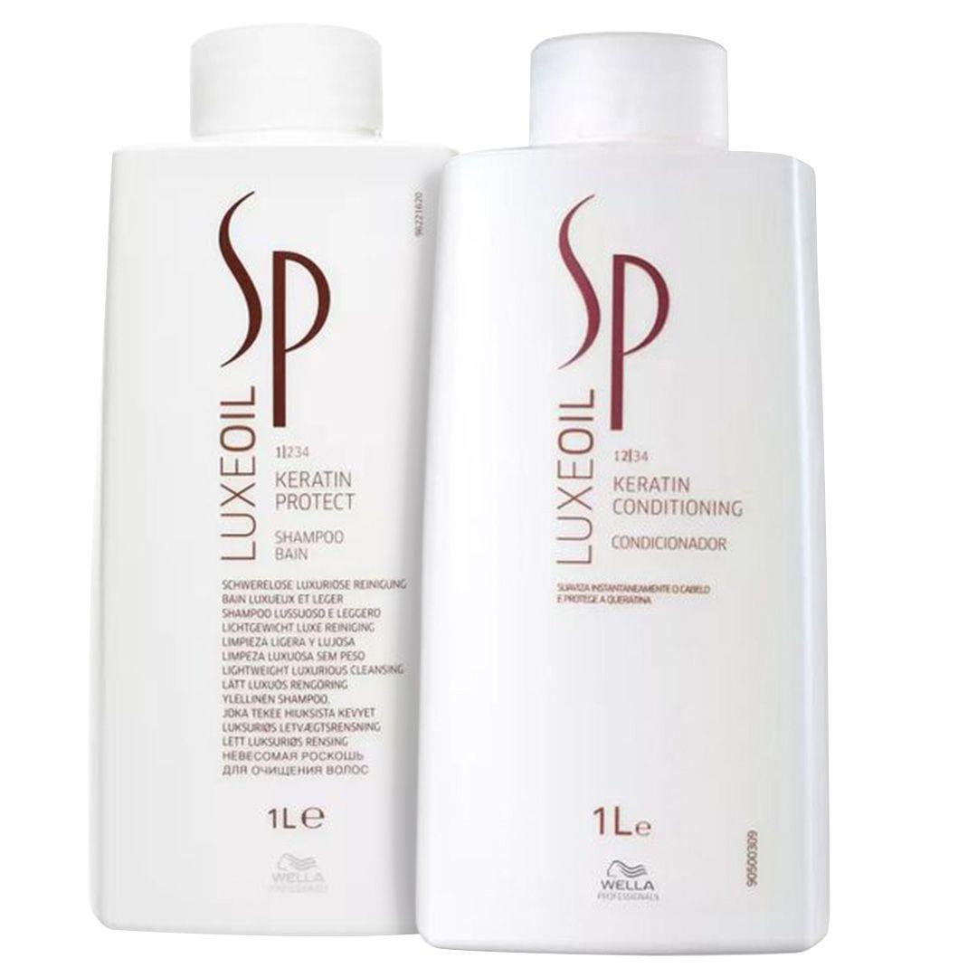 Wella Sp Luxe Oil Keratin Shampoo e Condicionador 1000ml