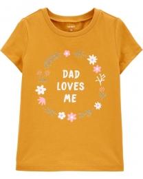 Camiseta unitária Manga Curta - Papai - Carter's