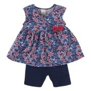 Conjunto Blusinha floral e Shorts