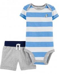 Conjunto Body Regata e Shorts - Pelicano - Carter's