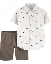 Conjunto Camisa Social e Shorts - Nautico - Carter's