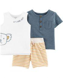 Conjunto Duas Camisetas e Shorts - Coala- Carter's