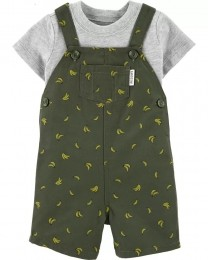 Conjunto Jardineira e Camiseta - Banana - Carter's