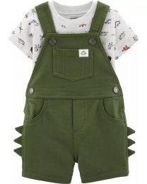 Conjunto Jardineira e Camiseta - Dino - Carter's