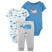 Kit com 2 Bodies e 1 Calça Carter's - Trio Baleia