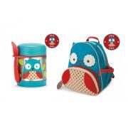 Kit Mochila Backpack + Pote térmico Skip Hop Zoo Coruja