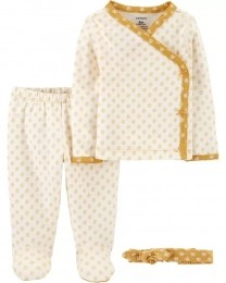 Kit Saída maternidade - Carter's - Floral amarelo