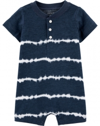 Macacão Curto Romper - Tie Dye - Carter's