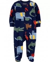 Pijama 2-Way Zip - Animais - Carter's