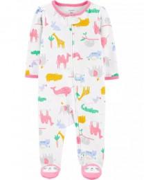 Pijama 2-Way Zip - Animais Zoo - Carter's