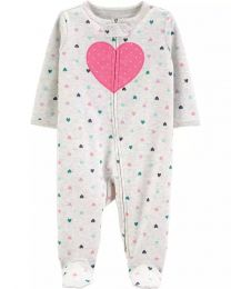 Pijama 2-Way Zip - Coração - Carter's